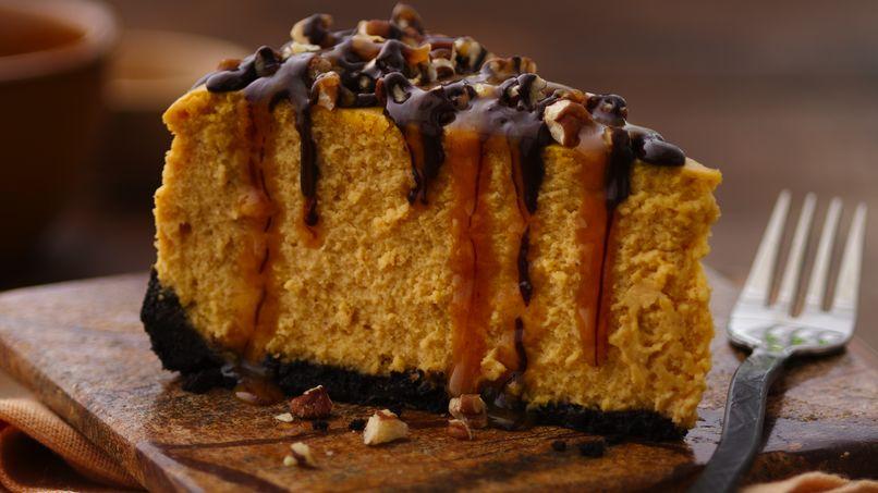 Pastel de Queso con Calabaza y Chocolate