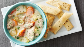 Slow-Cooker Chicken Pot Pie with Pie Crust Crackers