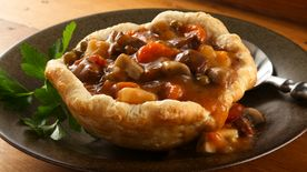 Beef Stew in Biscuit Cups