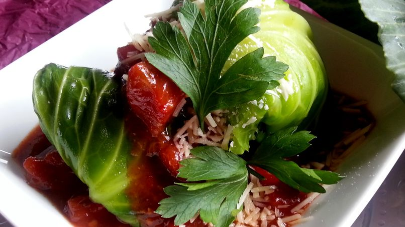 Cheese-Stuffed Cabbage Rolls