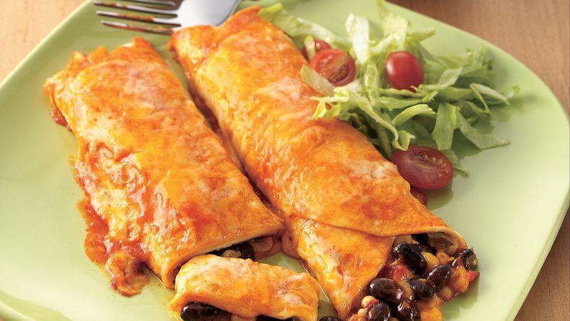 Black Bean and Corn Enchiladas