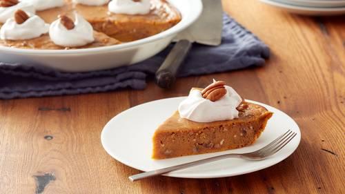 Impossibly Easy Pumpkin-Pecan Pie image