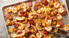 Sheet-Pan Shrimp Boil