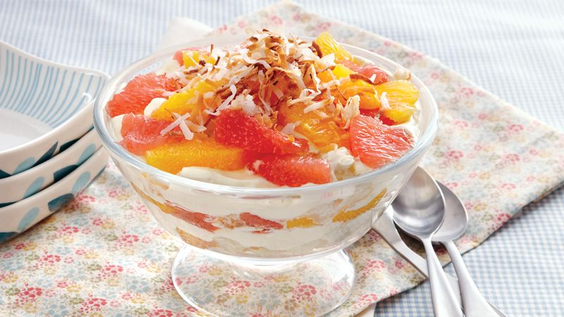 Orange-Angel Food Trifle