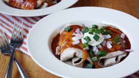 Microwave Enchiladas for Two