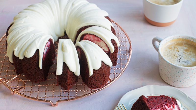 Cream Cheese-Red Velvet Bundt Cake