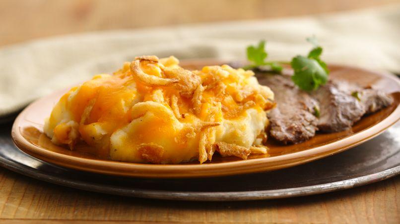 Crunchy Garlic-Potato Bake
