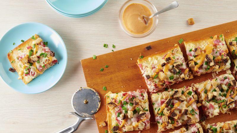 Reuben Flatbread Pizza