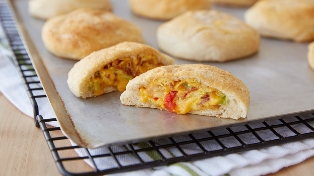 Denver Omelet-Stuffed Biscuits