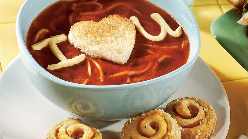 Valentine Tomato Pasta Soup