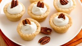 Pecan Cookie Cups with Maple Cream