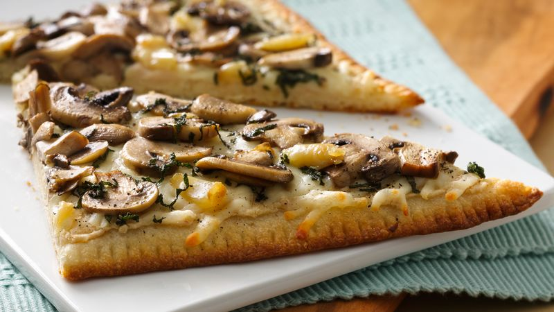 Roasted Garlic and Mushroom Flatbread