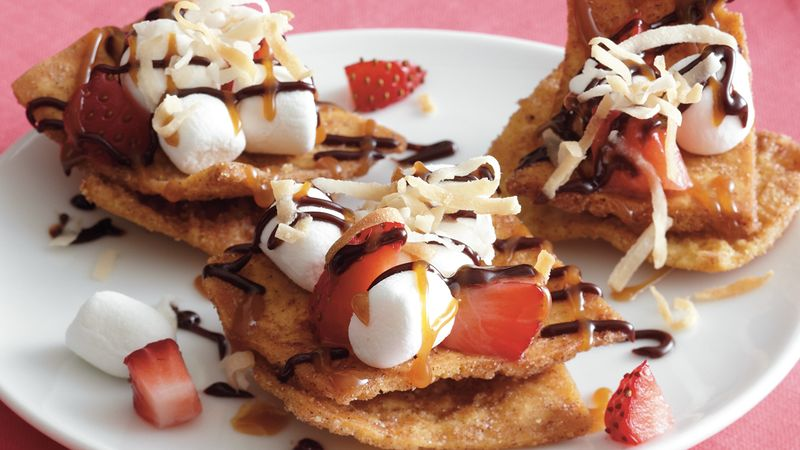 Strawberry Chocolate Nachos