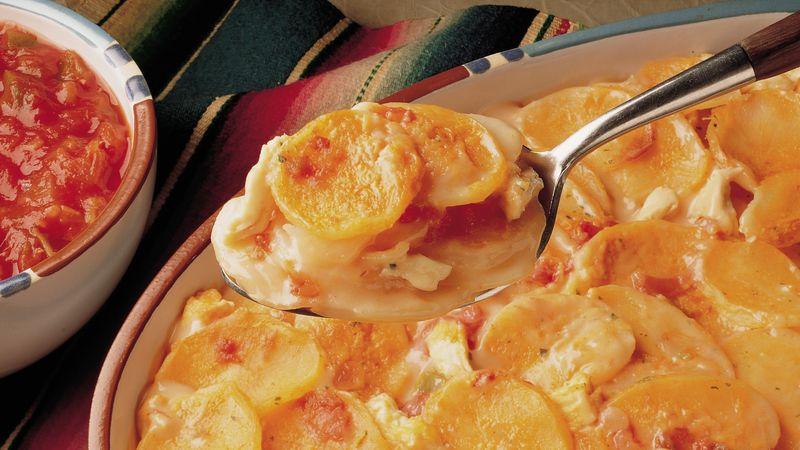 Cheesy Potatoes and Chicken Fiesta
