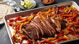 Sheet Pan Flank Steak Fajitas