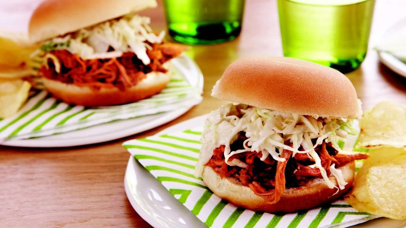 Smoked Pork and Slaw Sliders