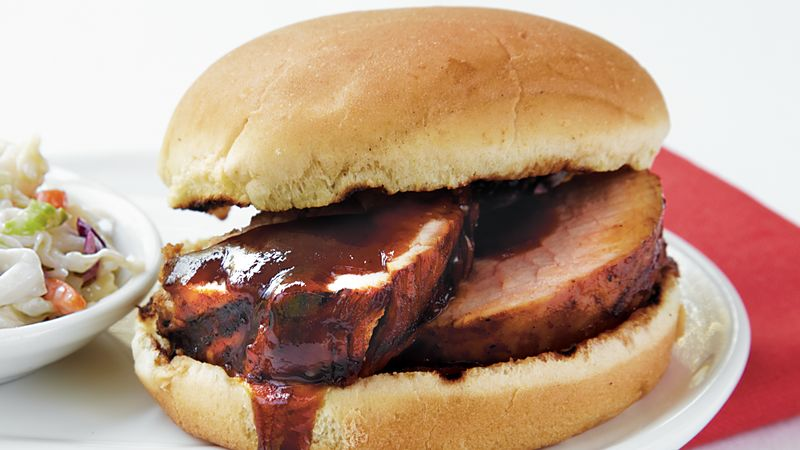 Pork Sandwiches with Honey BBQ Sauce