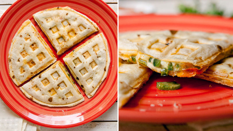 10 Waffle Maker Recipes That Will Save you Time: Waffle Iron Quesadillas