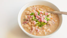 Slow-Cooker Ham, White Bean and Potato Soup