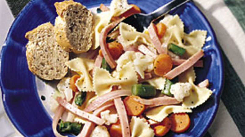 Ham, Vegetables and Bows