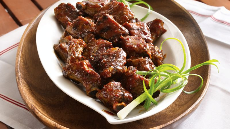Slow Cooker Grilled Spicy Chili Glazed Riblets Recipe