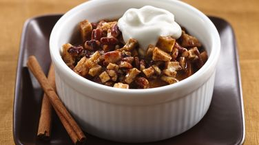 White Chocolate and Apple-Cinnamon Roll Bread Pudding