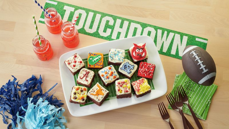 Team Spirit Frosted Brownies