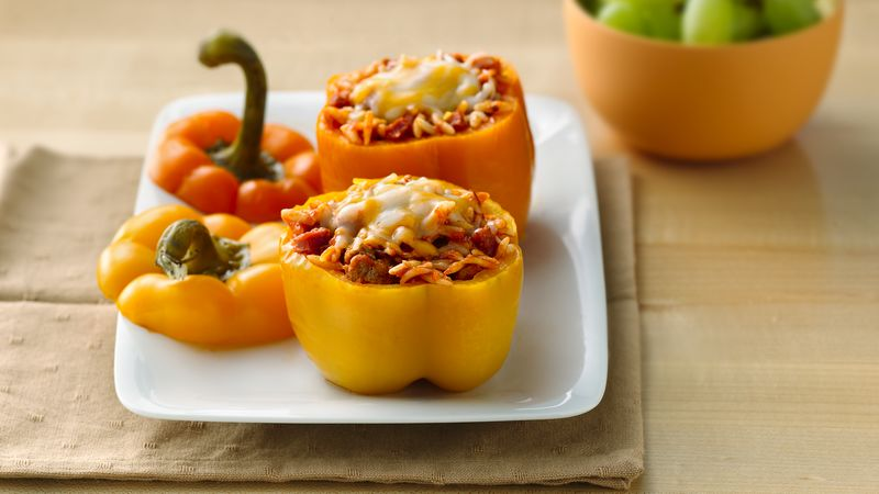 Slow-Cooker Pizza-Stuffed Peppers