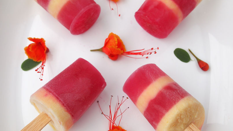Camu Camu and Mango Yogurt Pops