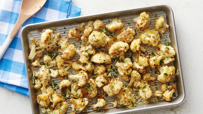 Easy Parmesan Roasted Cauliflower