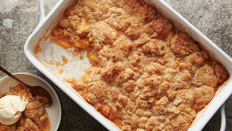 Brown Butter Sugar Cookie Peach Cobbler