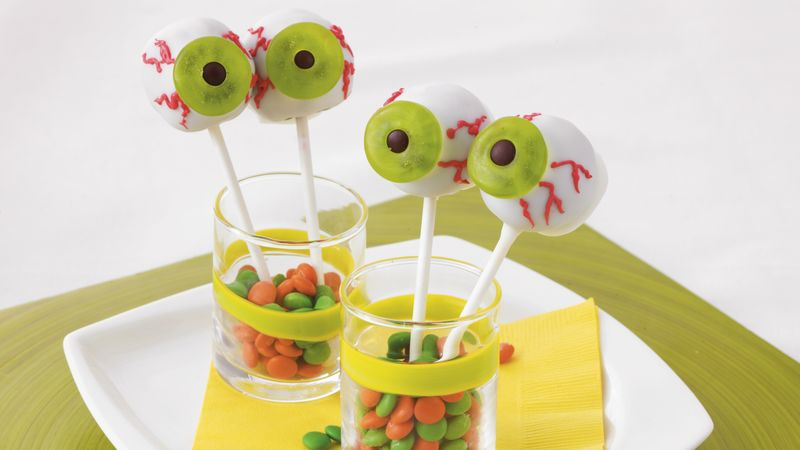 Eyeball Brownie Pops