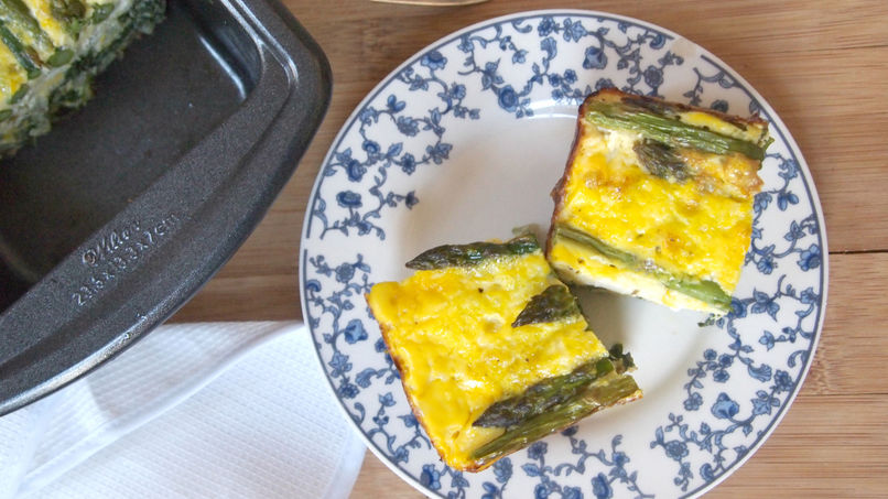Chard and Asparagus Frittata