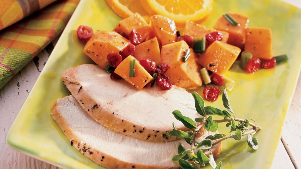 Turkey Pot Roast with Sweet Potatoes and Cranberries