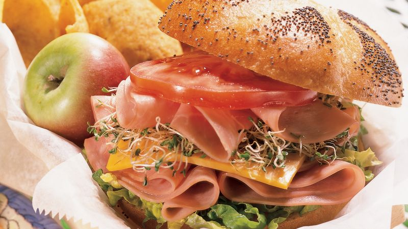 Honey-Mustard Ham Stacks