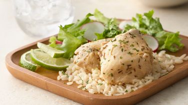 Slow-Cooker Lime Garlic Chicken with Rice