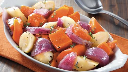 Slow-Cooker Glazed Root Vegetables image
