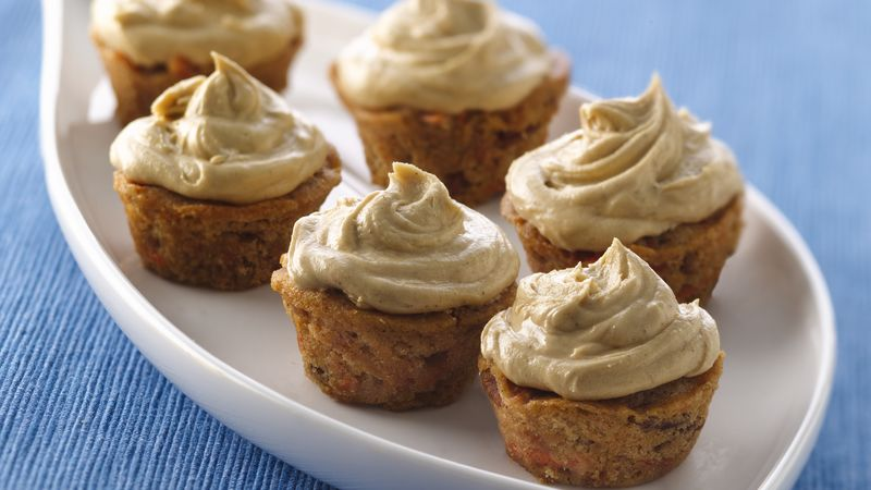Mini Carrot-Spiced Cupcakes with Molasses Buttercream