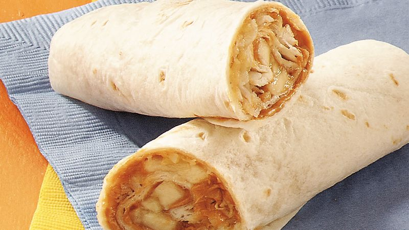 Tropical Peanut Butter Burritos