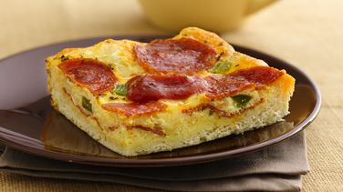 Pepperoni Quiche Squares