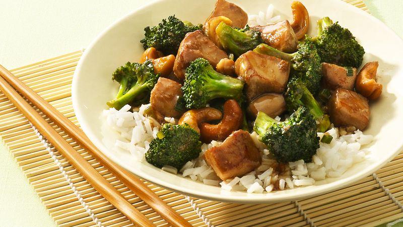 Cashew chicken and broccoli recipe bettycrocker cashew chicken and broccoli forumfinder Image collections