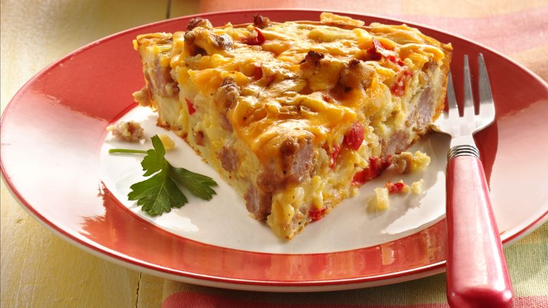 Impossibly Easy Sausage Breakfast Pie Recipe ...