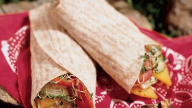 Cheese and Veggie Wraps