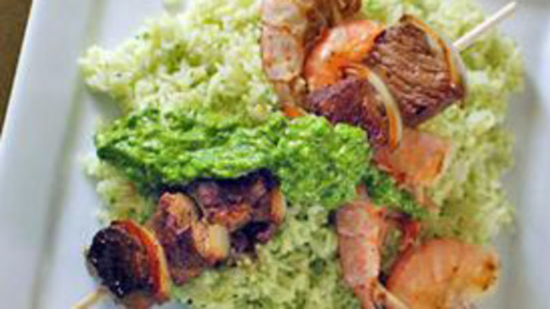 Surf and Turf Kabobs with Chimichurri