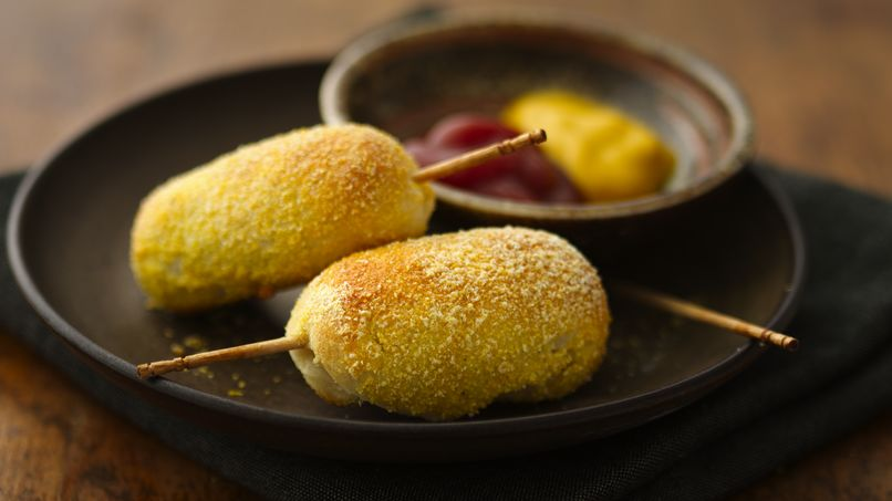 Mini Corn Dogs on a Stick