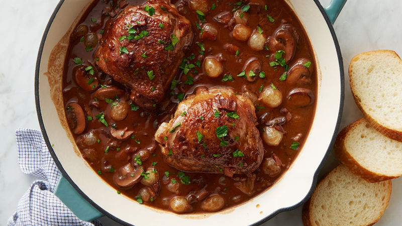 Skillet Coq Au Vin Cooking For 2 Recipe Bettycrocker Com