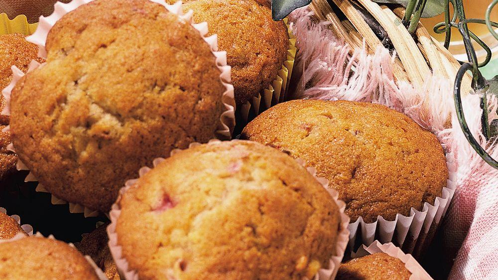 Banana-Strawberry Muffins