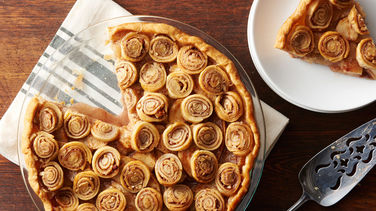 Cinnamon-Nut Swirl Apple Pie