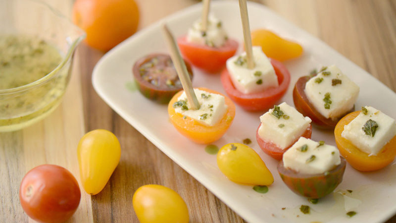 Stuffed Heirloom Cherry Tomatoes