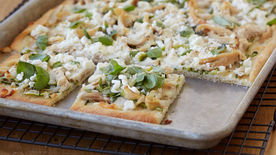 Chicken, Zucchini and Feta Flatbread